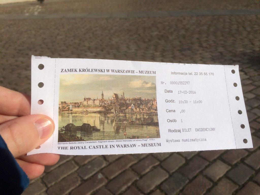 Bilet na wystawę Najdroższa moneta świata