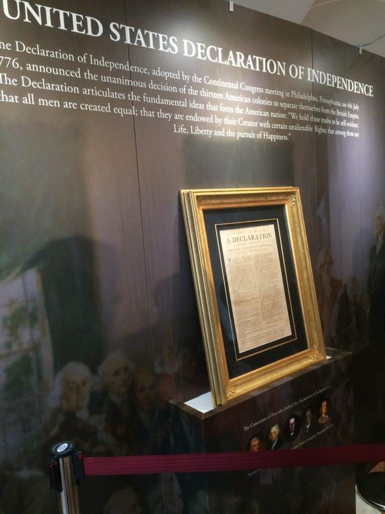Kopia deklaracji niepodległości w ramie