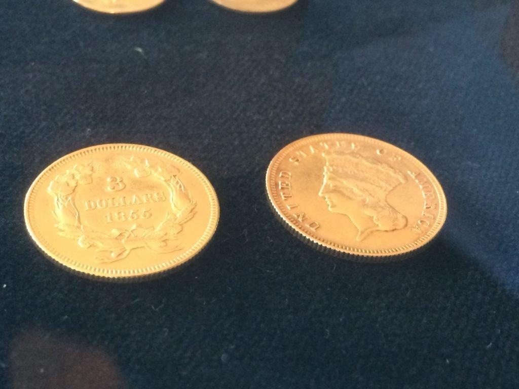 1855 3 dollars - złota moneta