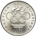 Igrzyska XXI Olimpiady - 200 zł 1976 srebrna moneta - przod