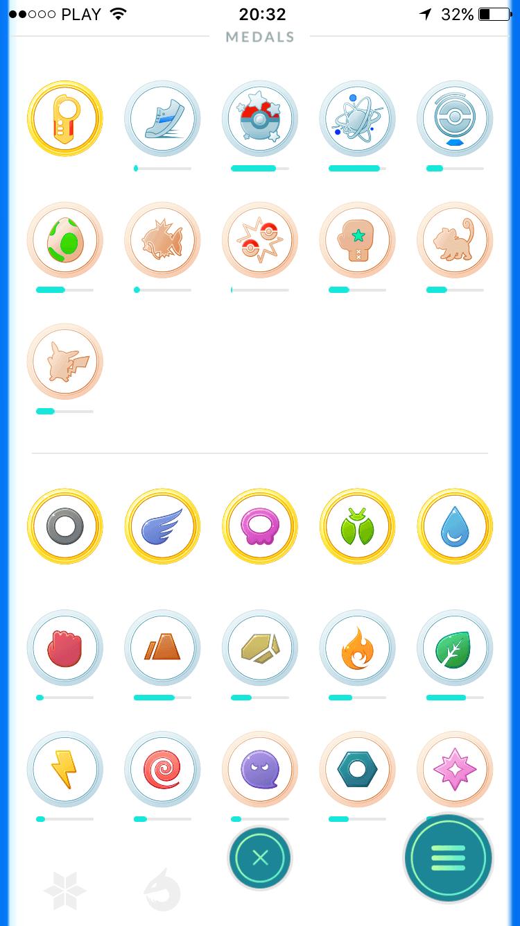 Medale w Pokemon Go
