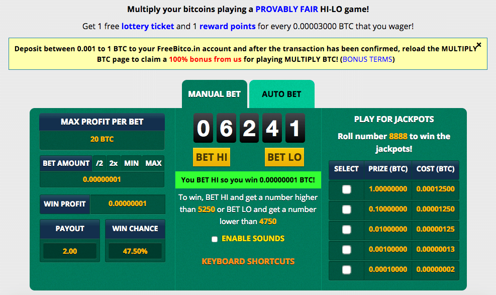 Manual bet