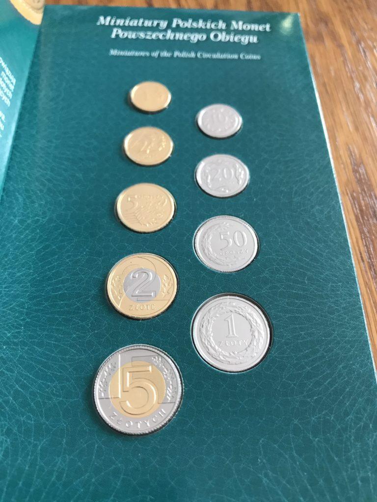 Miniatury Polskich Monet Obiegowych
