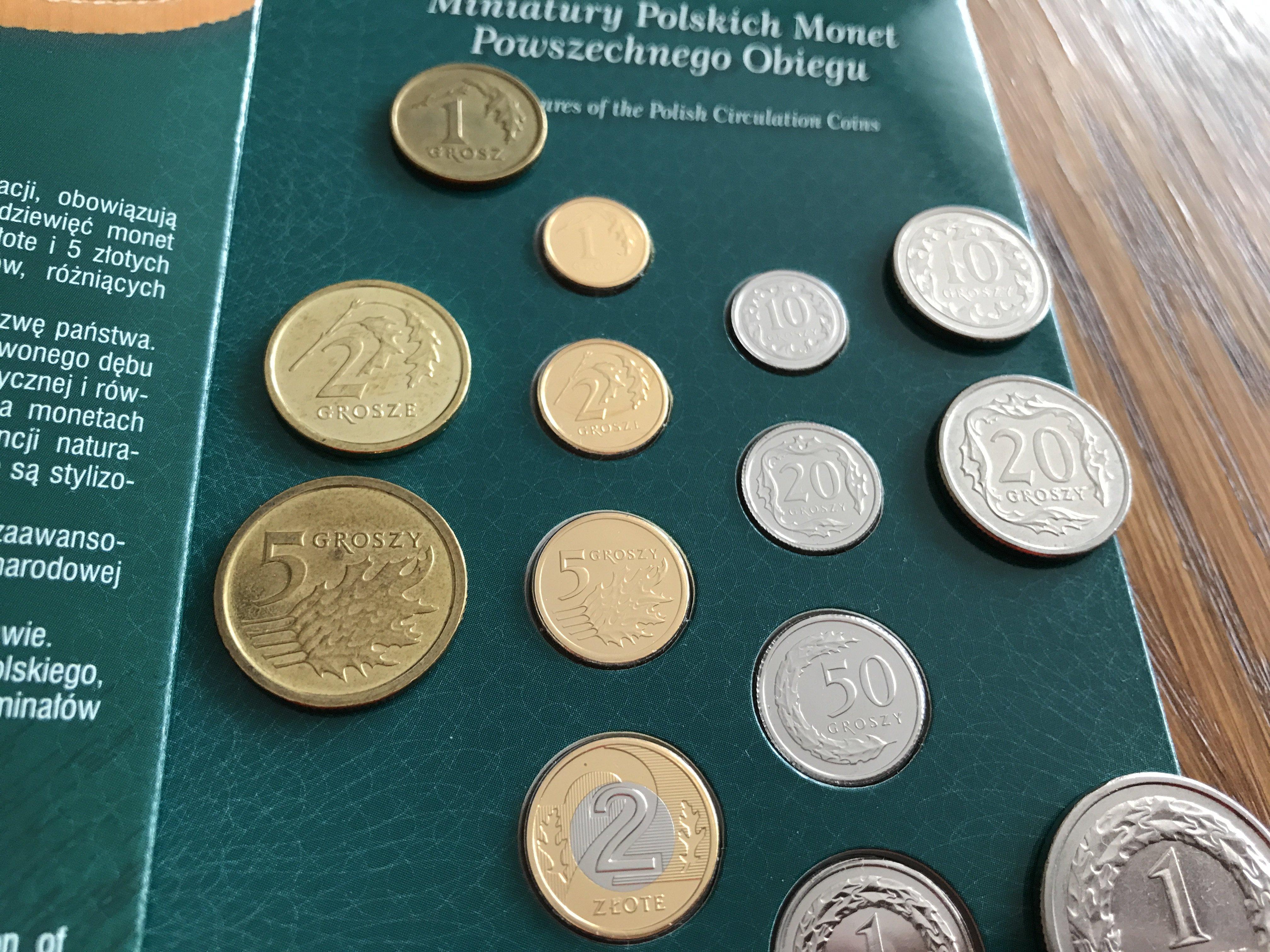 Miniatury monet obiegowych polska