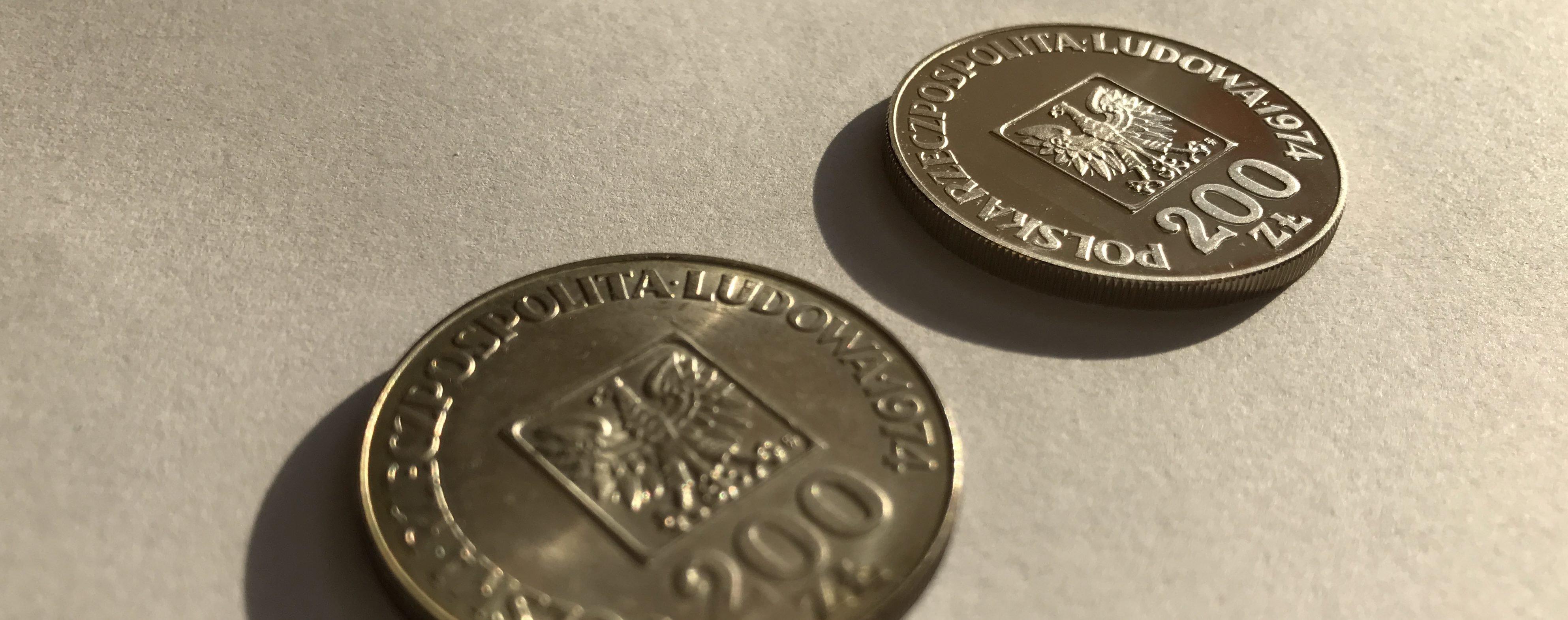 Porównanie monet XXX lat prl