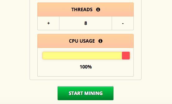 Rozpocznij kopanie bitcoinów przez przeglądarkę