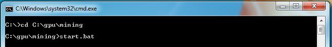 Komenda rozpoczynająca kopanie kryptowaluty na karcie graficznej na poolu. Sprawdź konfigurację minera i adres ethereum