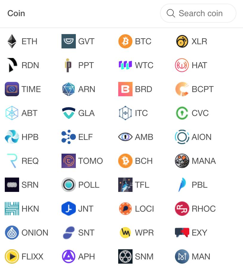 Lista kryptowalut, na które dostaje się prowizję jest bardzo długa. Bitcoin, Ethereum, Litecoin, ale też najnowsze tokeny, takie jak Dent, Poet czy DragoChain.