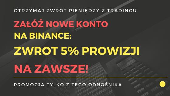 Otrzymaj zwrot prowizji za trading i handel kryptowalut.