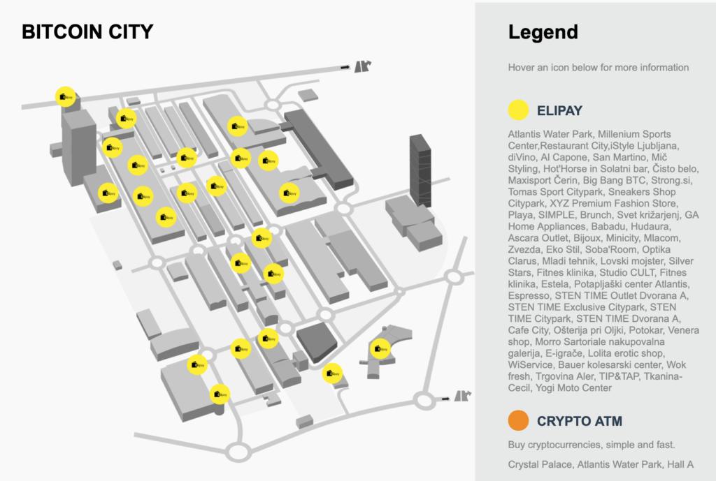 W Bitcoin City można zapłacić za pomocą kryptowalut w wielu miejscach.