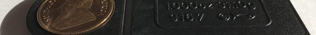 Linijka przeważyła na stronę z monetą, co oznacza prawidłową wagę Krugerranda.