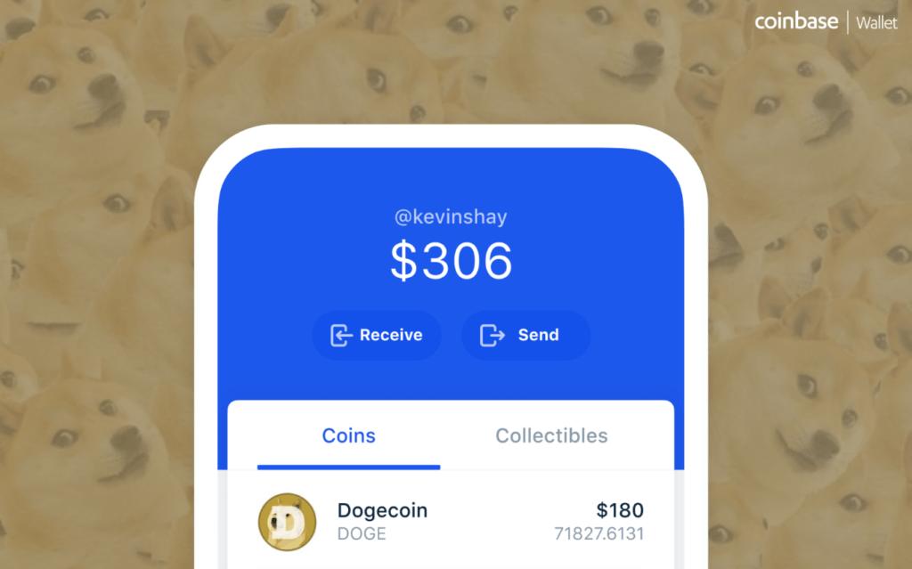 Portfel Coinbase Wallet wspiera Dogecoin