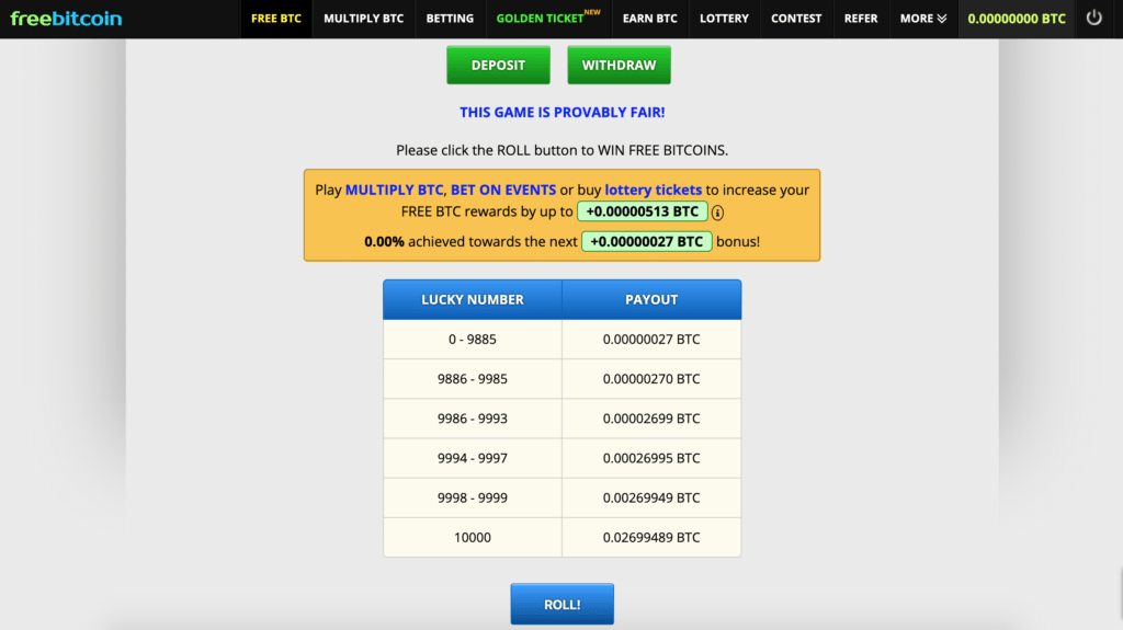 ekran startowy darmowe bitcoiny.