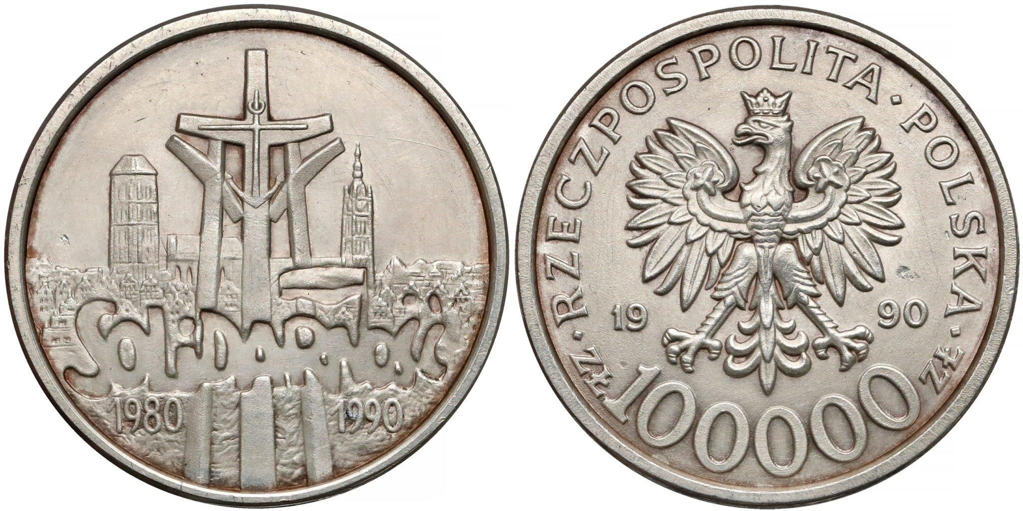 1990 Solidarnosc 100000 zl Typ B