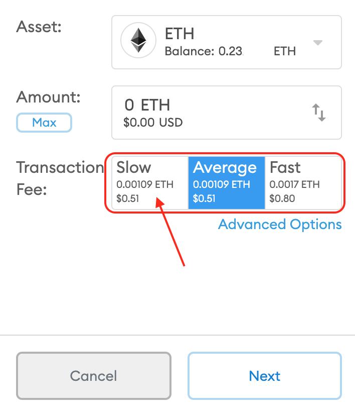 Jak ustawić opłatę transakcyjną w Ethereum w portfelu Metamask?